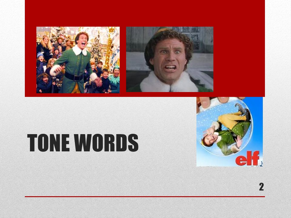 TONE WORDS 2