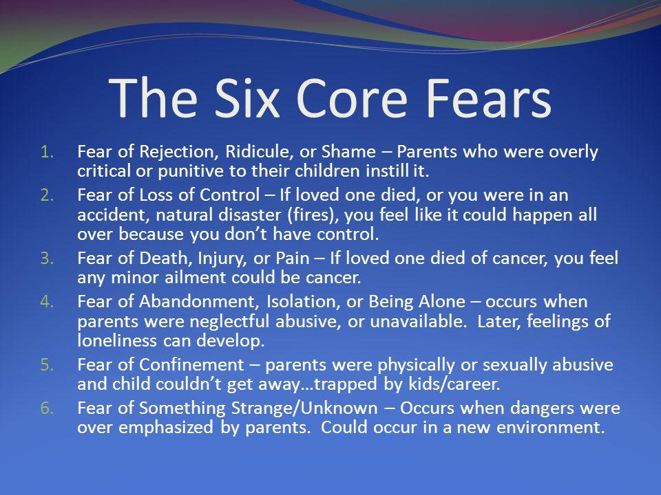 The Six Core Fears 1.