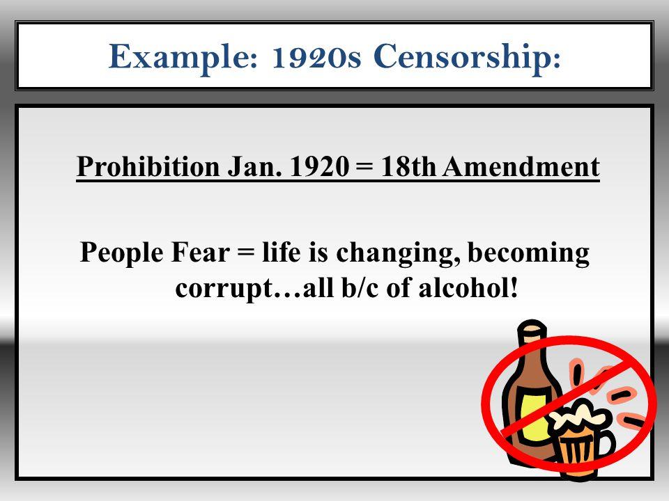 Prohibition Jan.