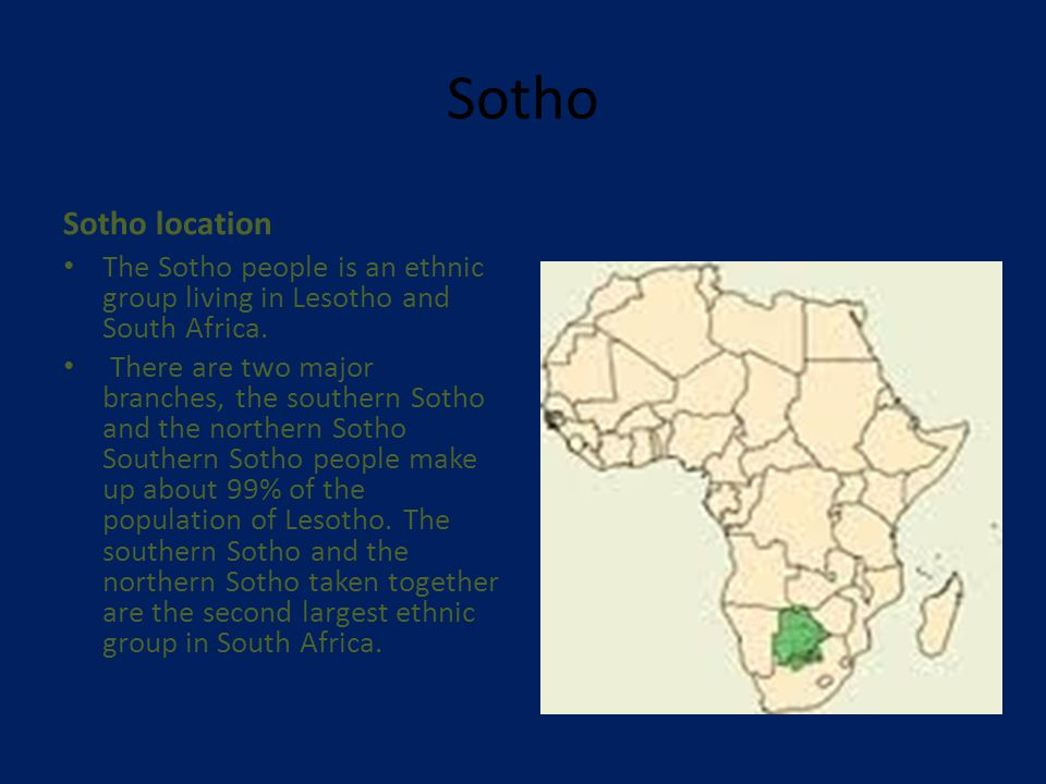 Sotho Sotho way of eating Sotho people share many food traditions with the other peoples of South Africa.