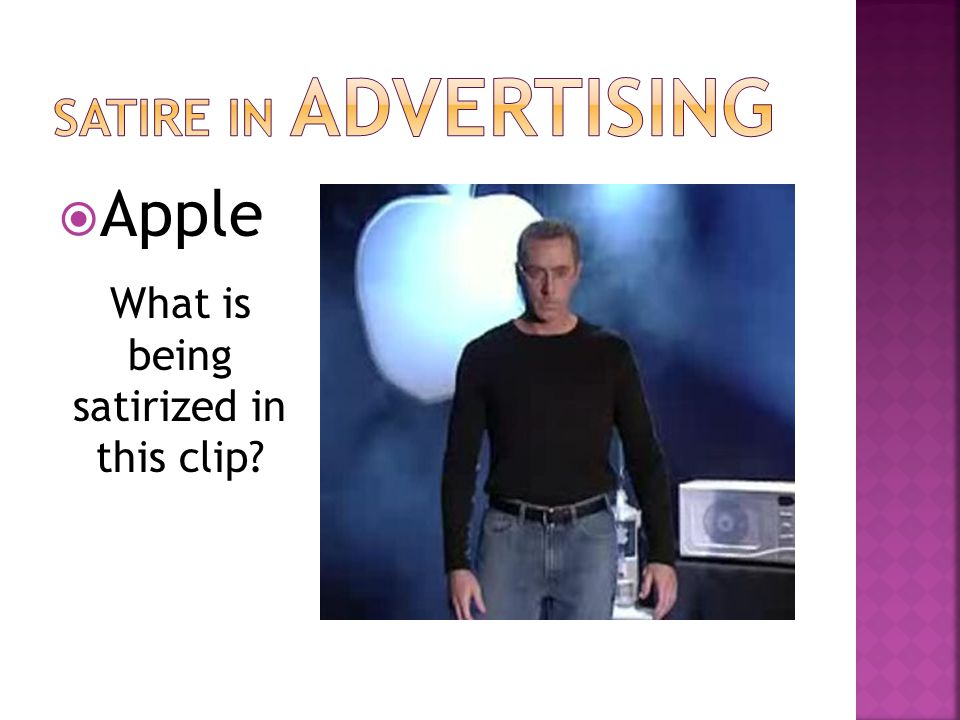  Apple What is being satirized in this clip