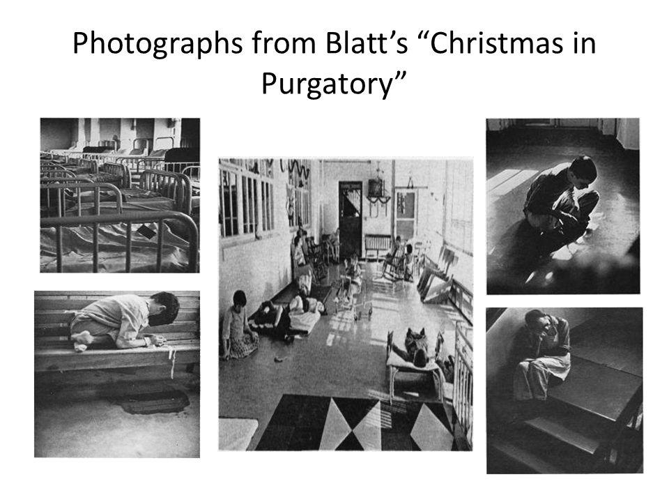 Photographs from Blatt's Christmas in Purgatory