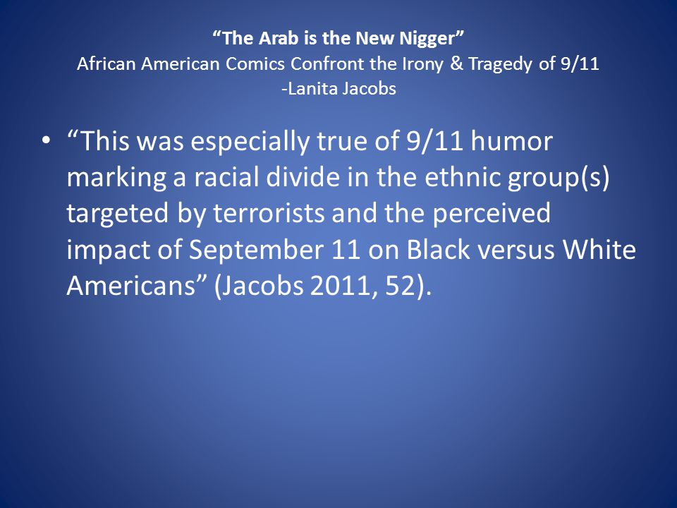 Questions According to the quote, do you believe this incident did in fact create an even larger racial divide.
