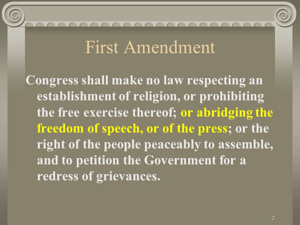 1 Media Law JMC 201 Nov. 13, 2012