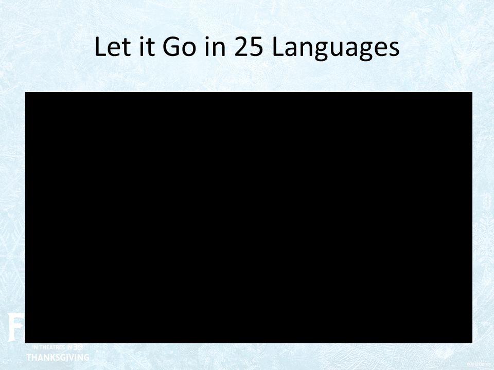 Let it Go in 25 Languages