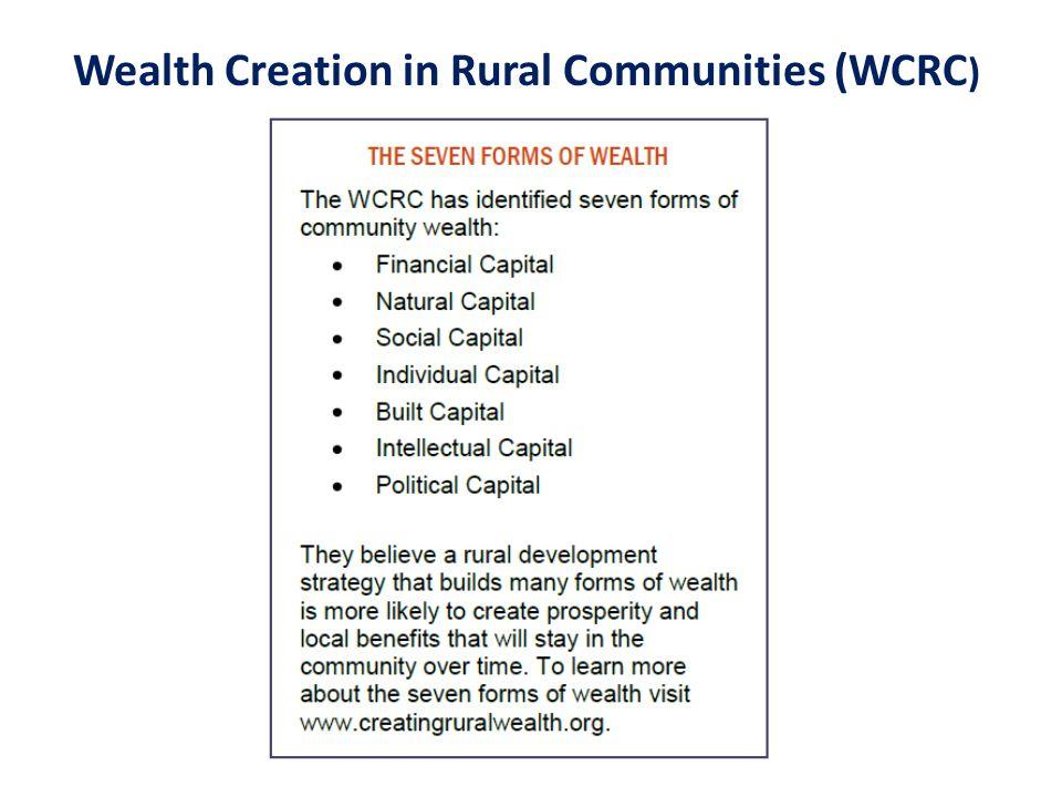 Wealth Creation in Rural Communities (WCRC )