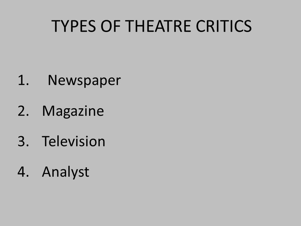 1.Newspaper 2.Magazine 3.Television 4.Analyst