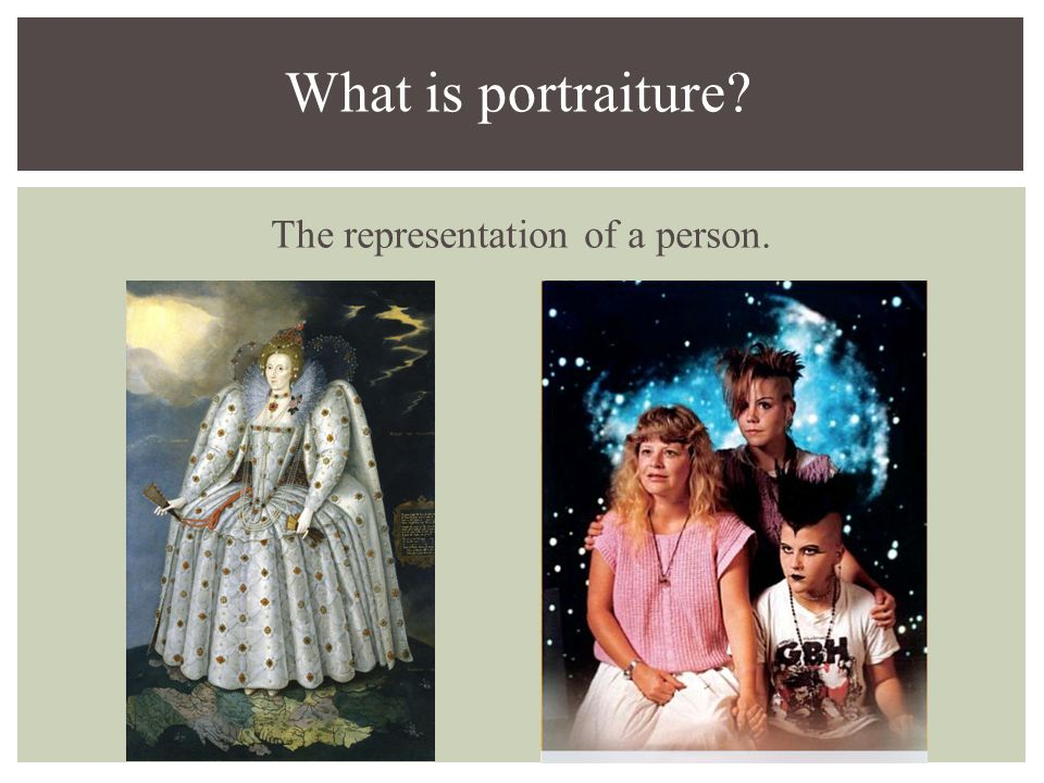 The representation of a person. What is portraiture?