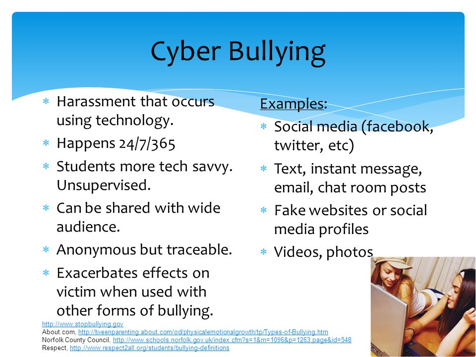 Social / Relational Bullying  Intent to harm reputation or social standing.