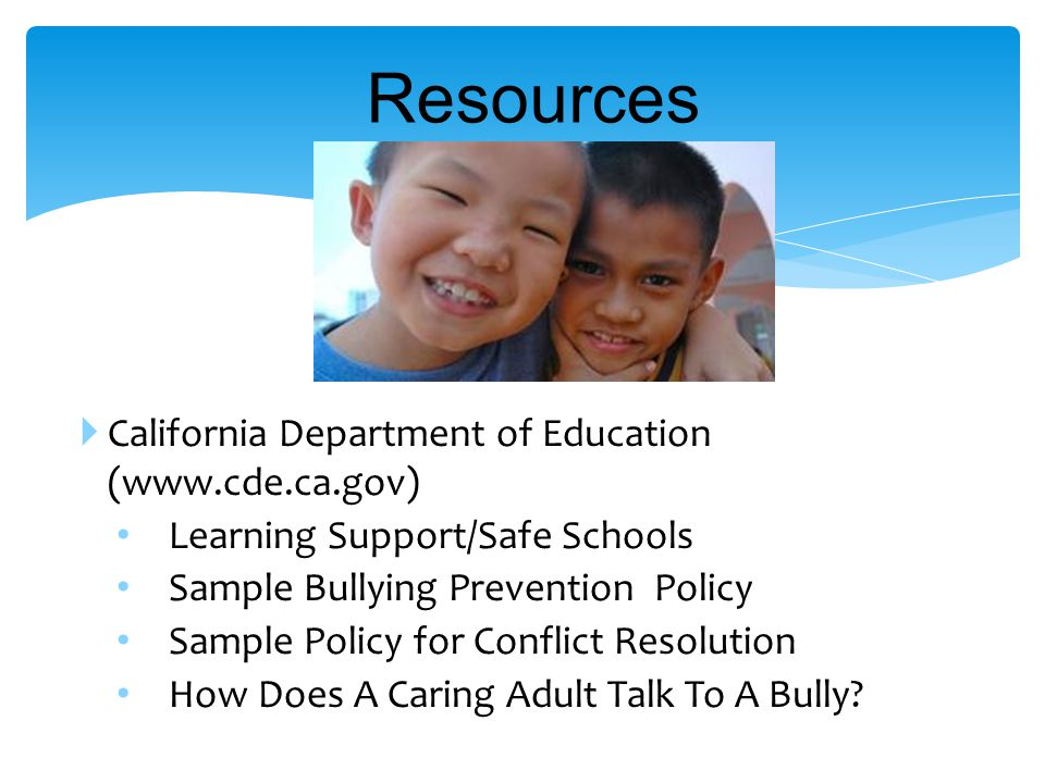 1.Assess the extent of the bullying problem.