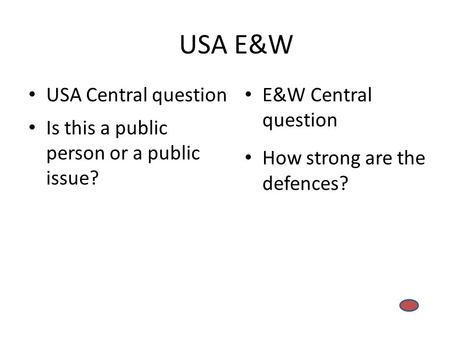 USA E&W USA Central question Is this a public person or a public issue.