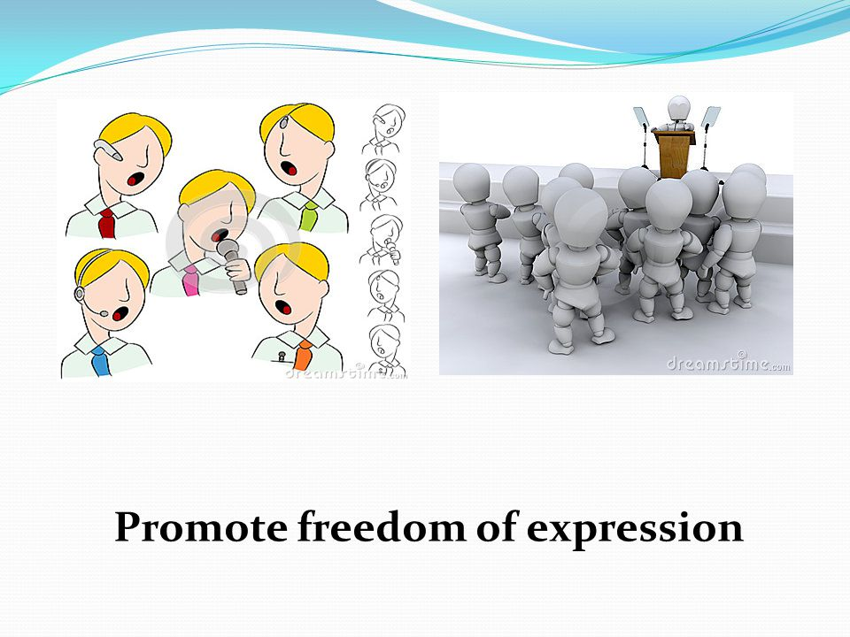 Promote freedom of expression