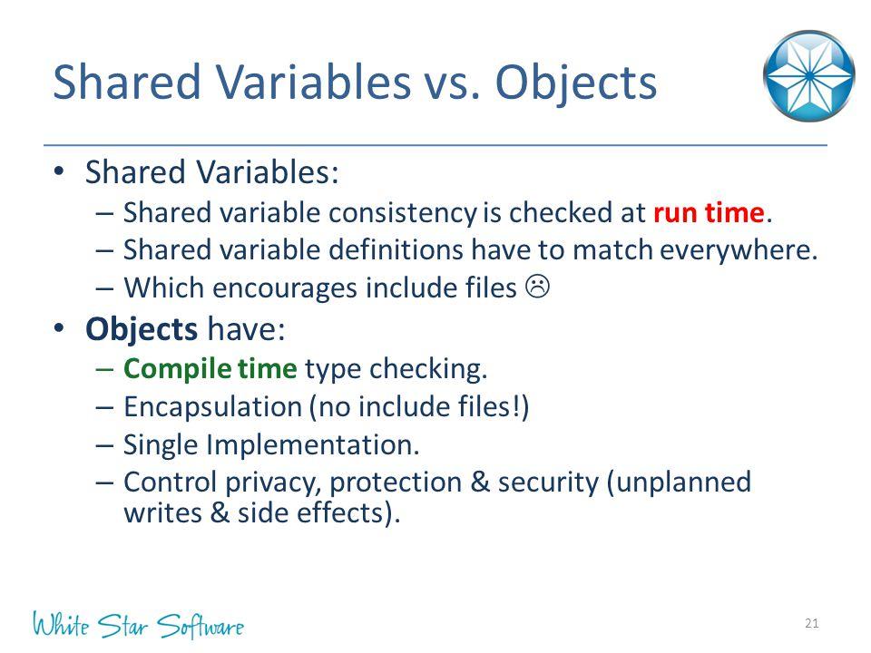 Shared Variables vs.