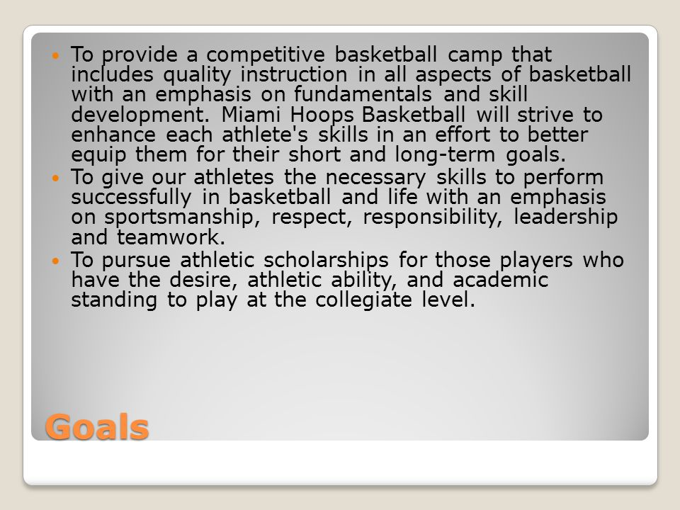 Communication Miami Hoops Basketball encourages open communication.