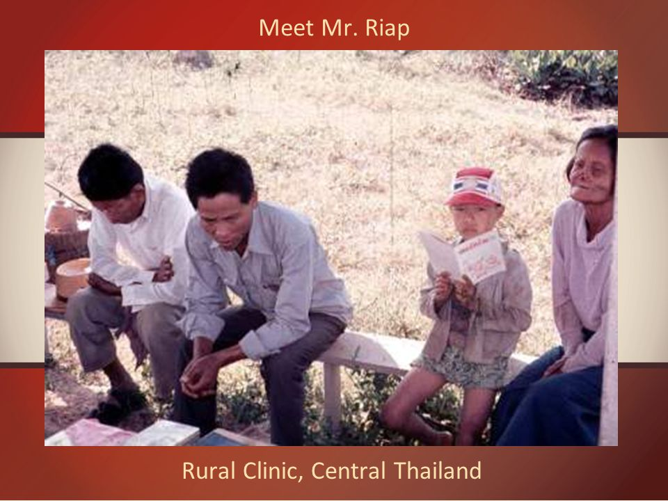 Rural Clinic, Central Thailand