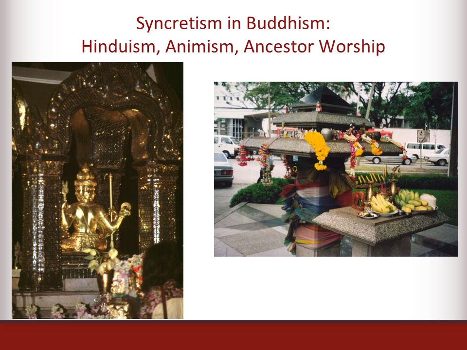 Syncretism in Buddhism: Hinduism, Animism, Ancestor Worship