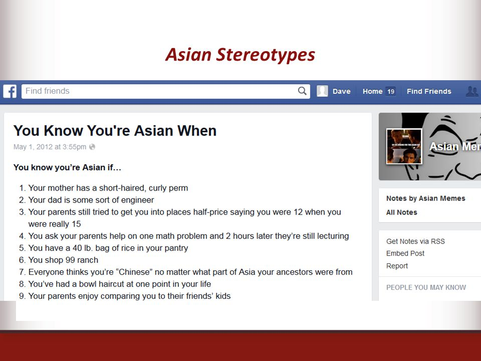 Asian Stereotypes