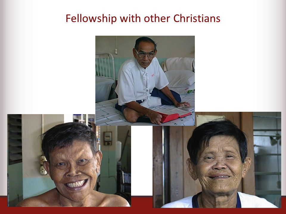 Fellowship with other Christians