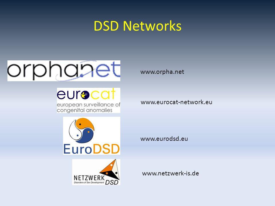 DSD Networks www.netzwerk-is.de www.eurodsd.eu www.eurocat-network.eu www.orpha.net