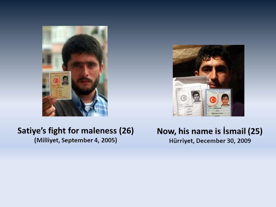 Now, his name is İsmail (25) Hürriyet, December 30, 2009 Satiye's fight for maleness (26) (Milliyet, September 4, 2005)