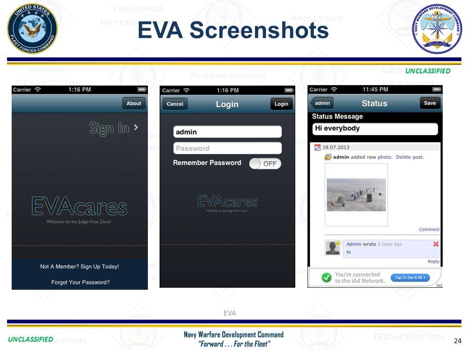 UNCLASSIFIED EVA Screenshots EVA 24