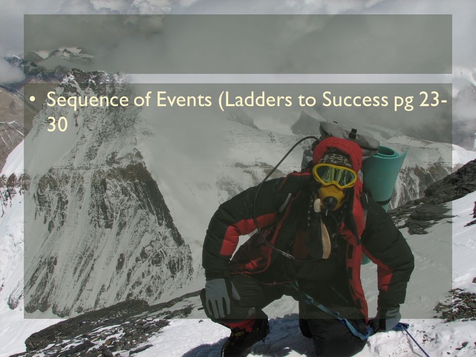 Sequence of Events (Ladders to Success pg 23- 30