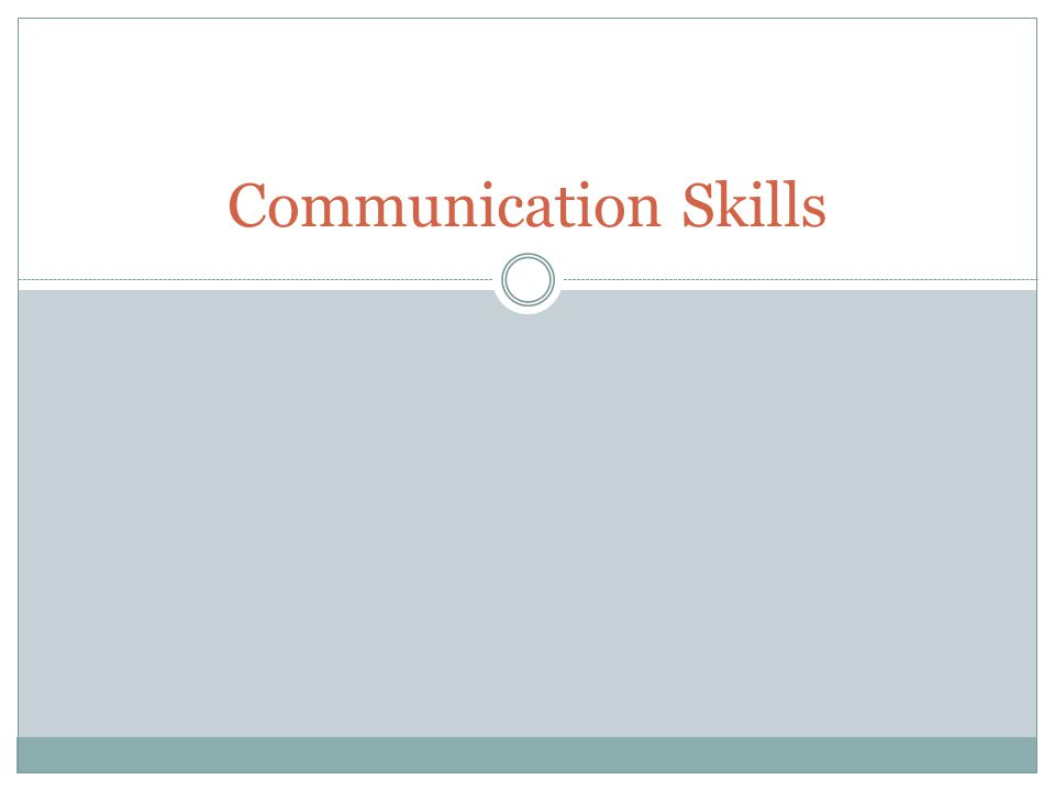 Effective communication is the basis for successful problem solving.