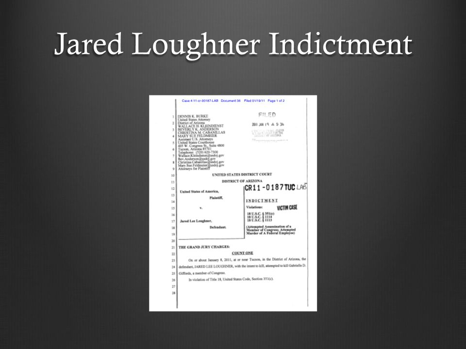 Jared Loughner Indictment