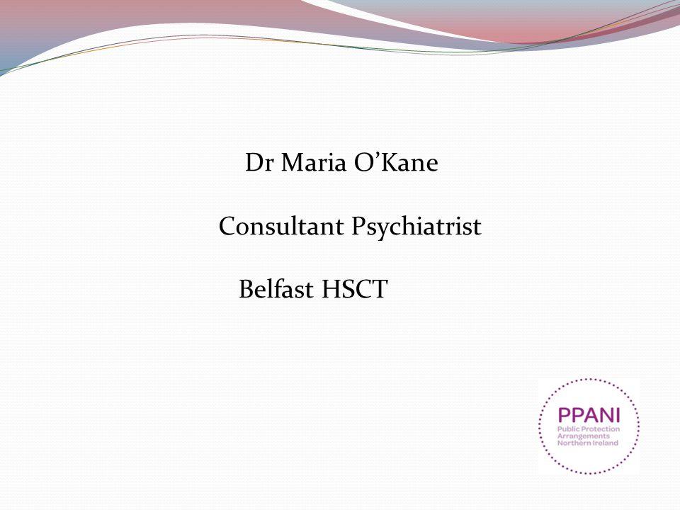 Dr Maria O'Kane Consultant Psychiatrist Belfast HSCT