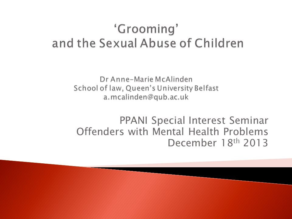 PPANI Special Interest Seminar Offenders with Mental Health Problems December 18 th 2013