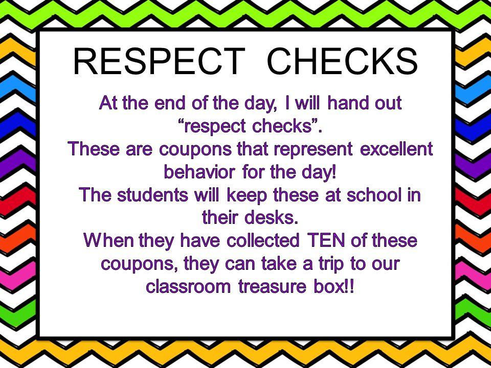 RESPECT CHECKS