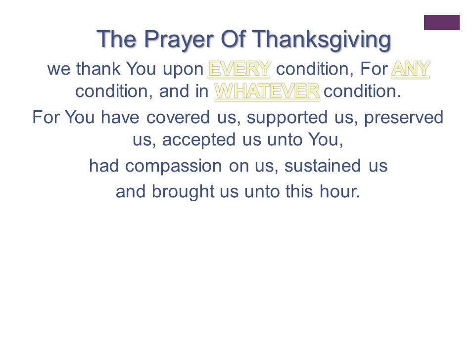 + Let's pray!