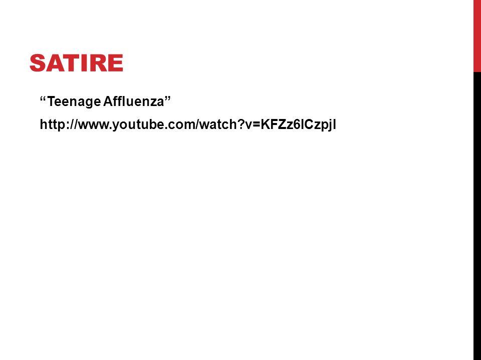 """SATIRE """"Teenage Affluenza"""" http://www.youtube.com/watch?v=KFZz6ICzpjI"""