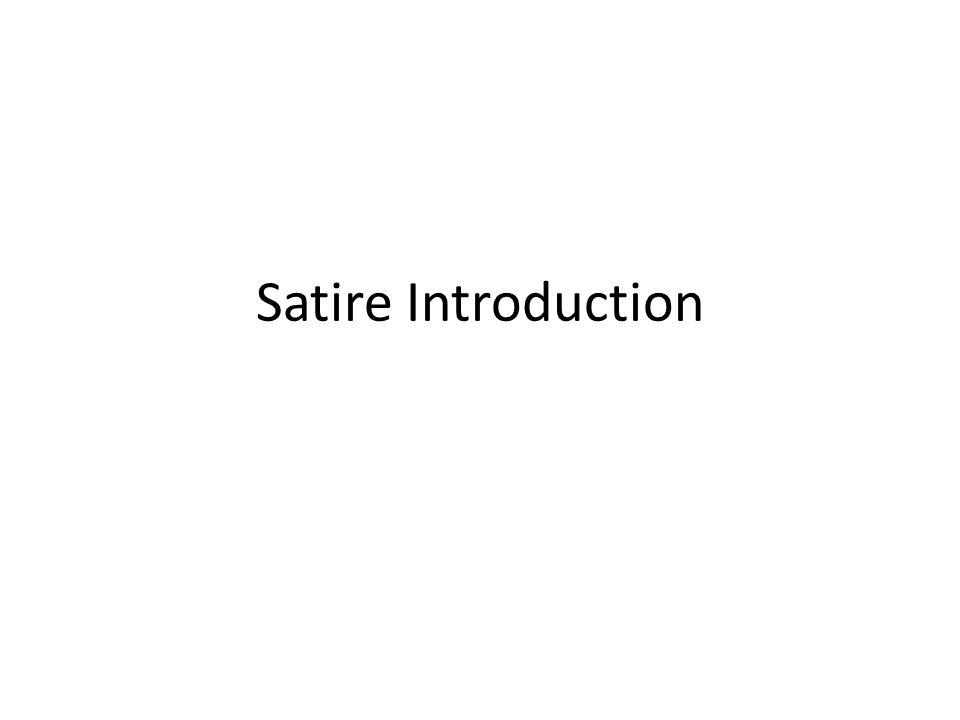 Satire Introduction