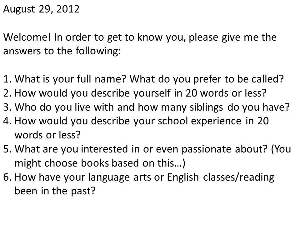 October 12, 2012 Learning Target: Entry Task: