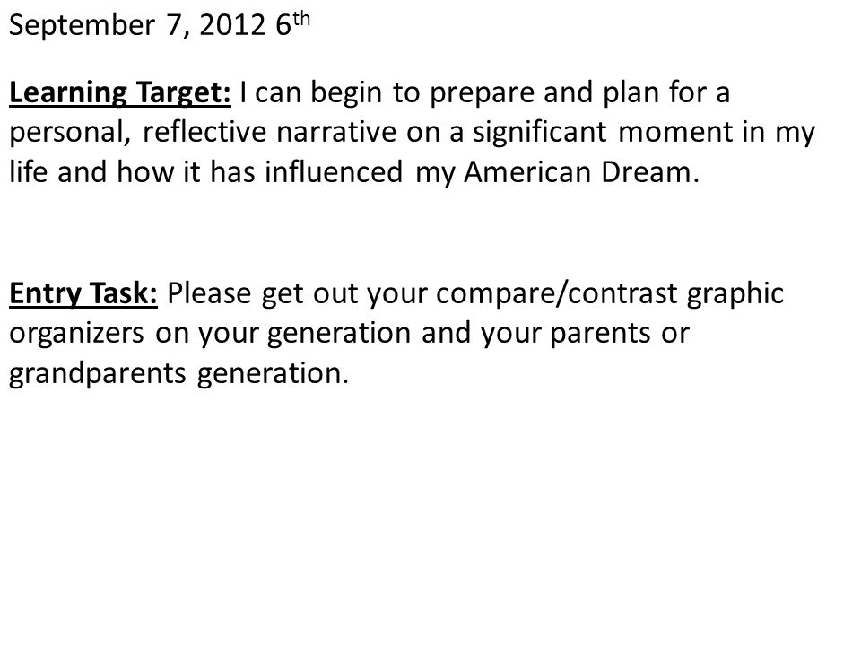 November 16, 2012 Learning Target: I can begin brainstorming possible topics on which to do my Culminating Project.