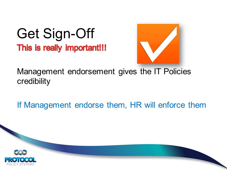 Get Sign-Off