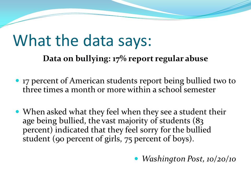 What's the impact of Bullying.Bullying/Harassment makes school a very difficult place to be.