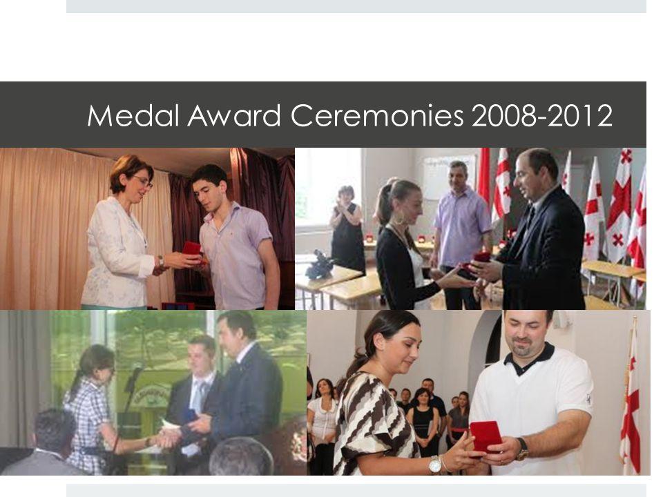 Medal Award Ceremonies 2008-2012