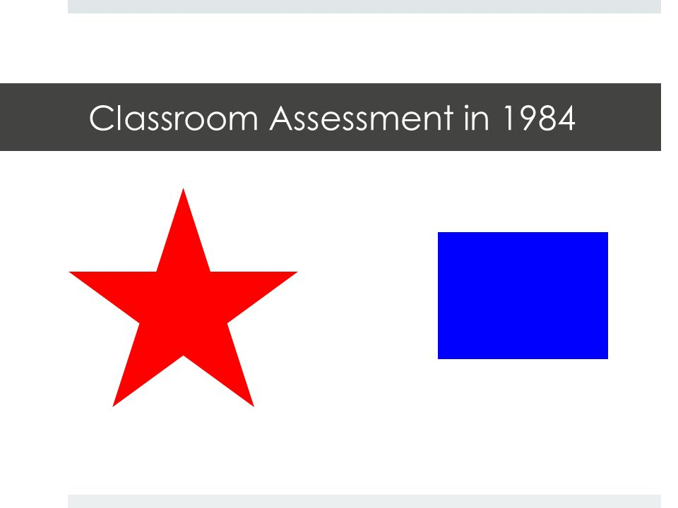 Classroom Assessment in 2014