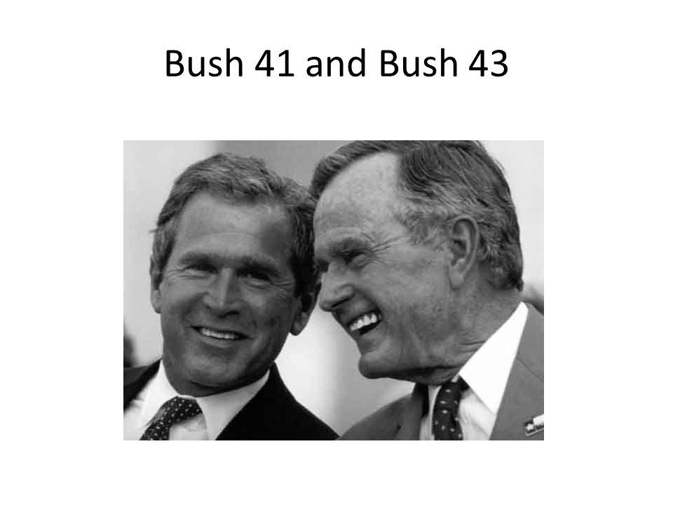 Bush 41 and Bush 43