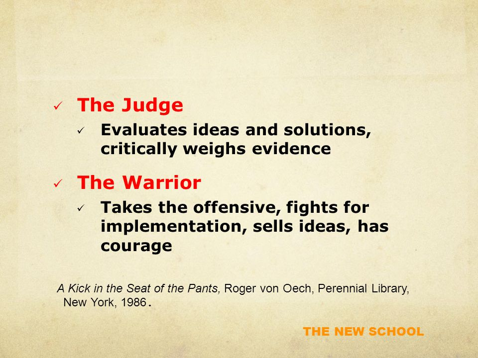 THE NEW SCHOOL 2.If you want to enhance creative teamwork, get rid of rules, guidelines and norms.