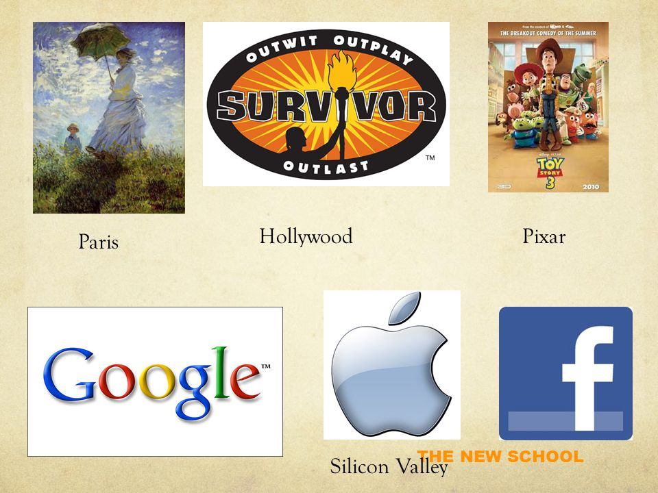 THE NEW SCHOOL Silicon Valley Paris HollywoodPixar