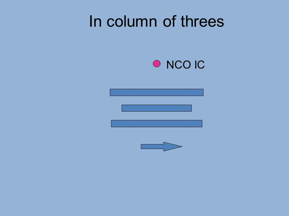 In column of threes NCO IC