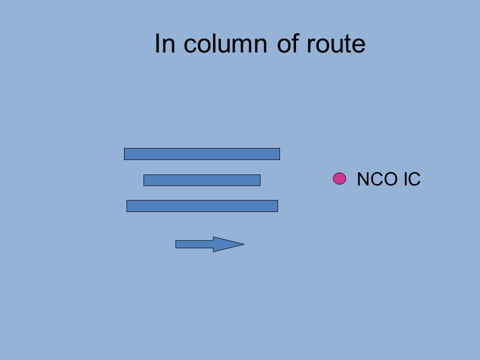 In column of route NCO IC