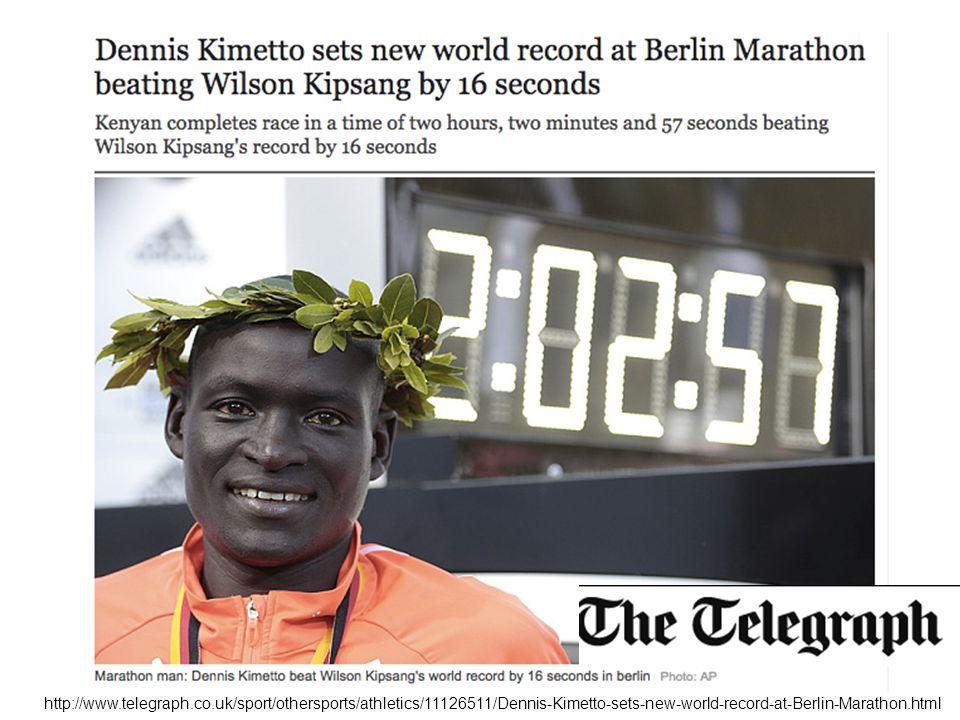 http://www.telegraph.co.uk/sport/othersports/athletics/11126511/Dennis-Kimetto-sets-new-world-record-at-Berlin-Marathon.html