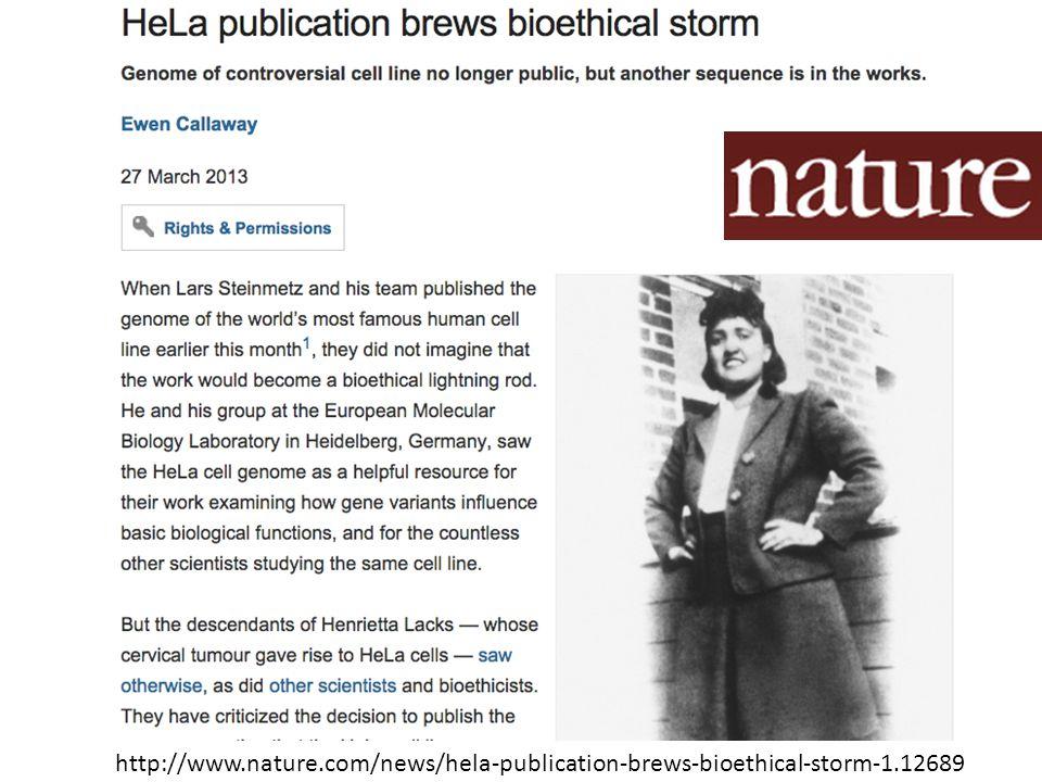 http://www.nature.com/news/hela-publication-brews-bioethical-storm-1.12689