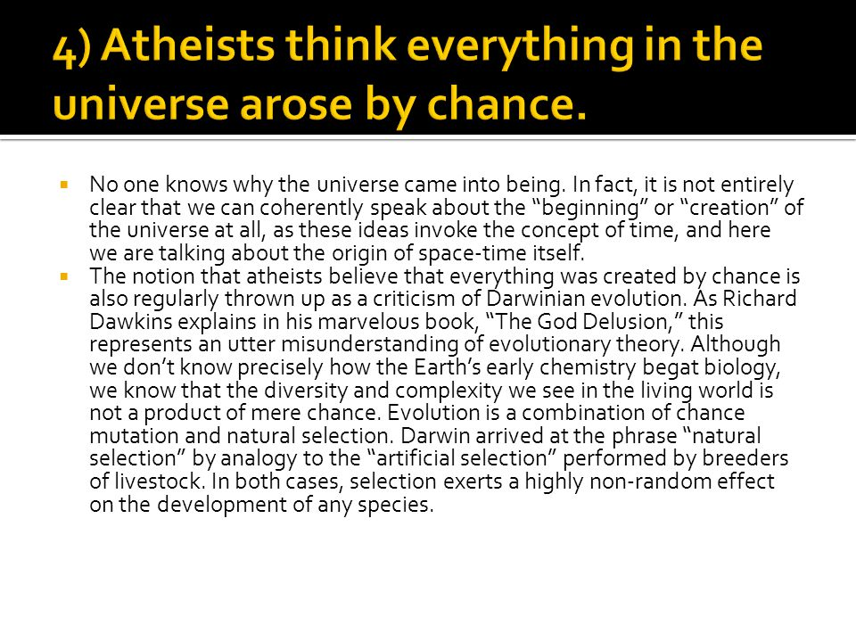 """ No one knows why the universe came into being. In fact, it is not entirely clear that we can coherently speak about the """"beginning"""" or """"creation"""" of"""
