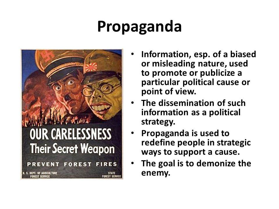 Propaganda Information, esp.
