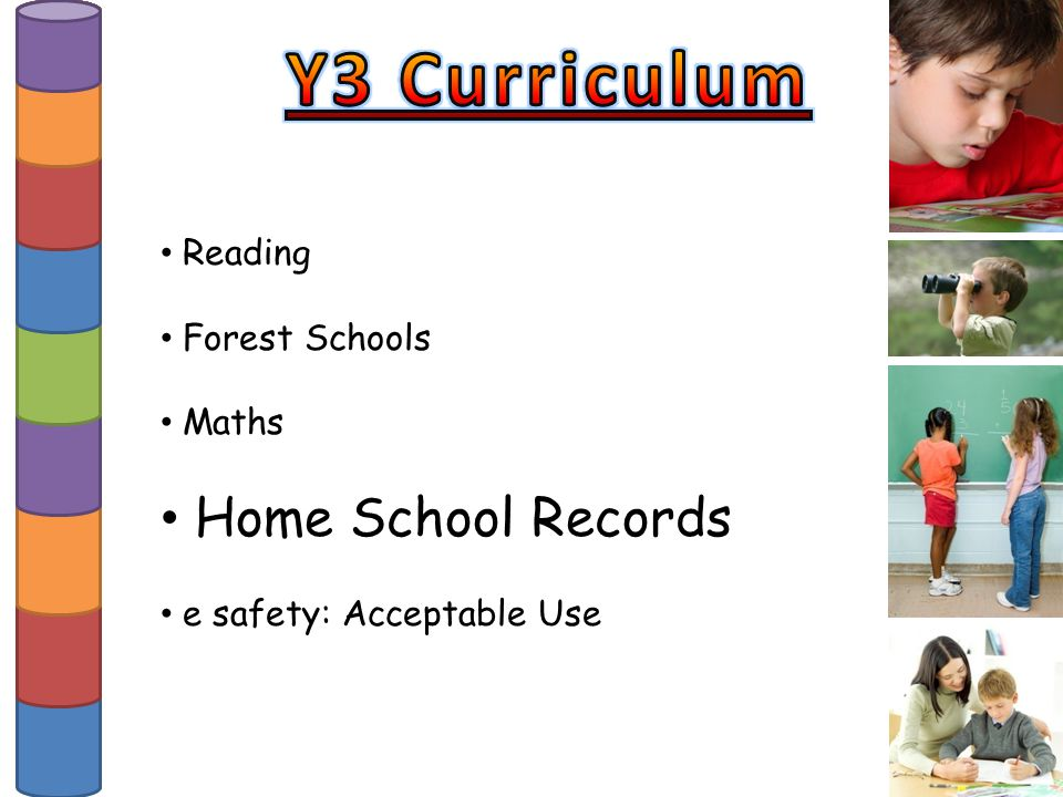 Reading Forest Schools Maths Home School Records e safety: Acceptable Use